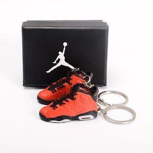 "Jordan 6 Retro ""Red Black"" 3D Keychain Pair"